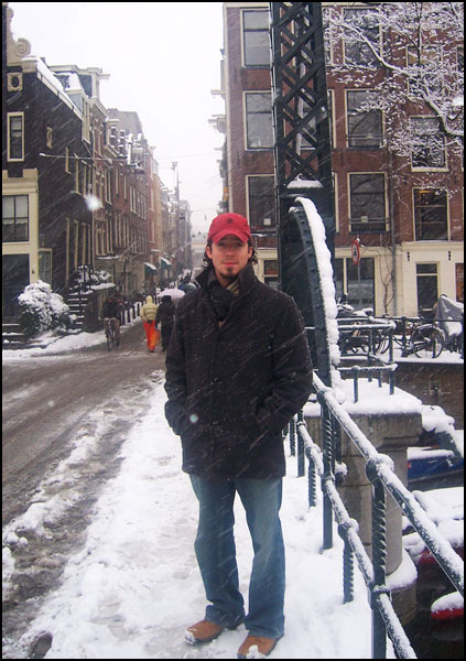 Picture of Jason in Amsterdam