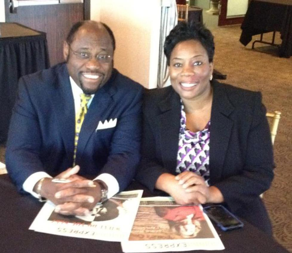 Dr. Munroe and May Olusola during his last interview with MannaEXPRESS.
