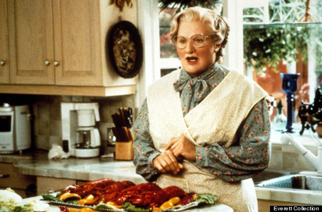 MRS. DOUBTFIRE, Robin Williams, 1993, TM & Copyright (c) 20th Century Fox Film Corp. All rights rese