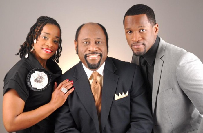 Dr. Munroe and his children. His daughter Charisa and son  Chairo