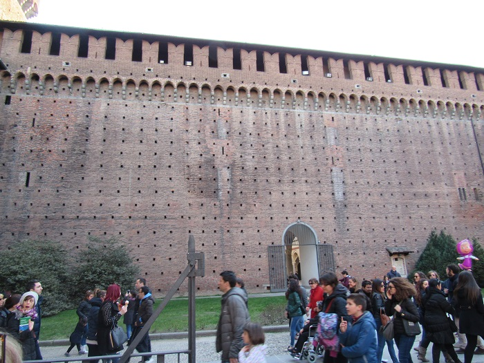 fortress wall in sforza castle
