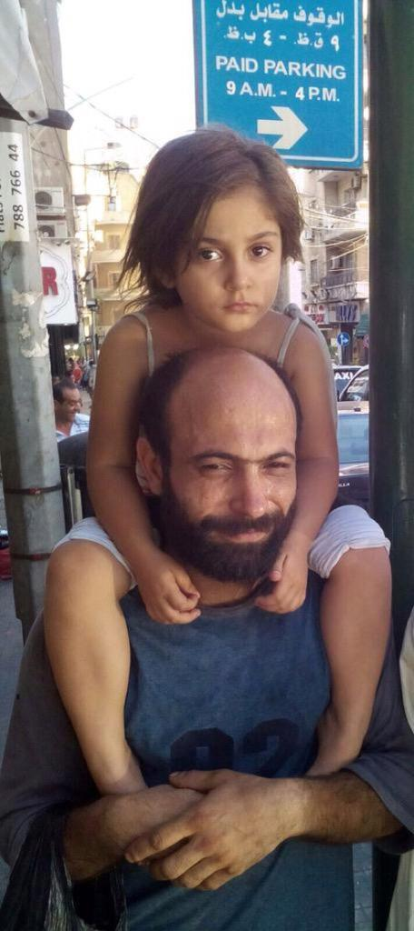 Abdul and his daughter Reem
