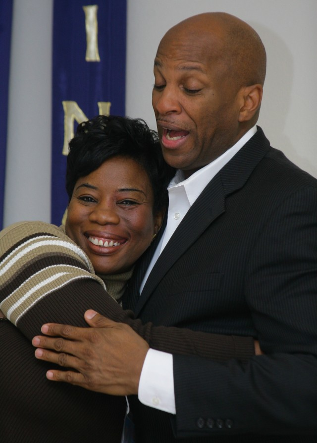 Donnie McClurkin and May Olusola