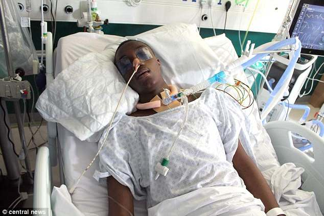 Jamel Boyce in hospital after the incident